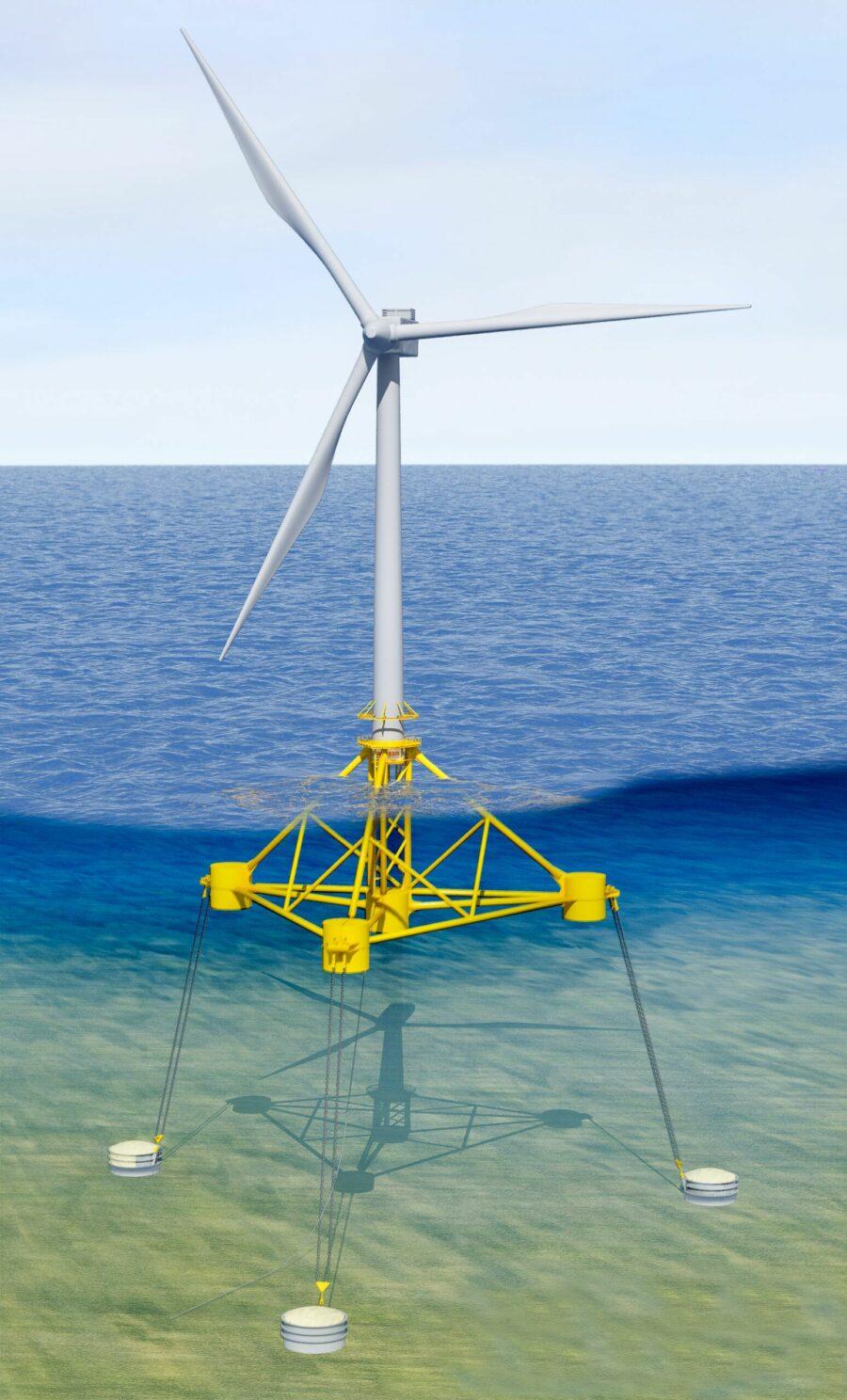 VolturnUS floating wind turbine