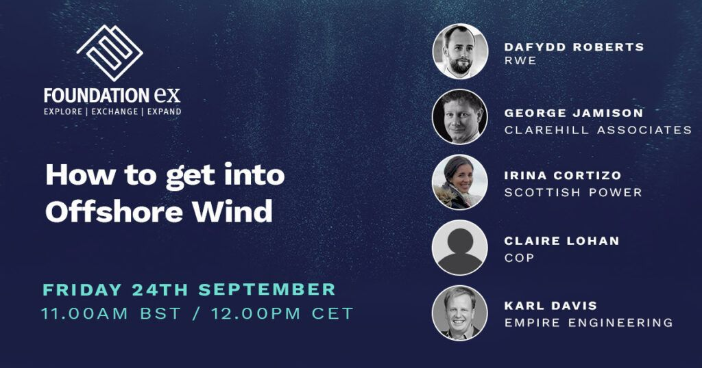 September speakers for How to get into Offshore wind